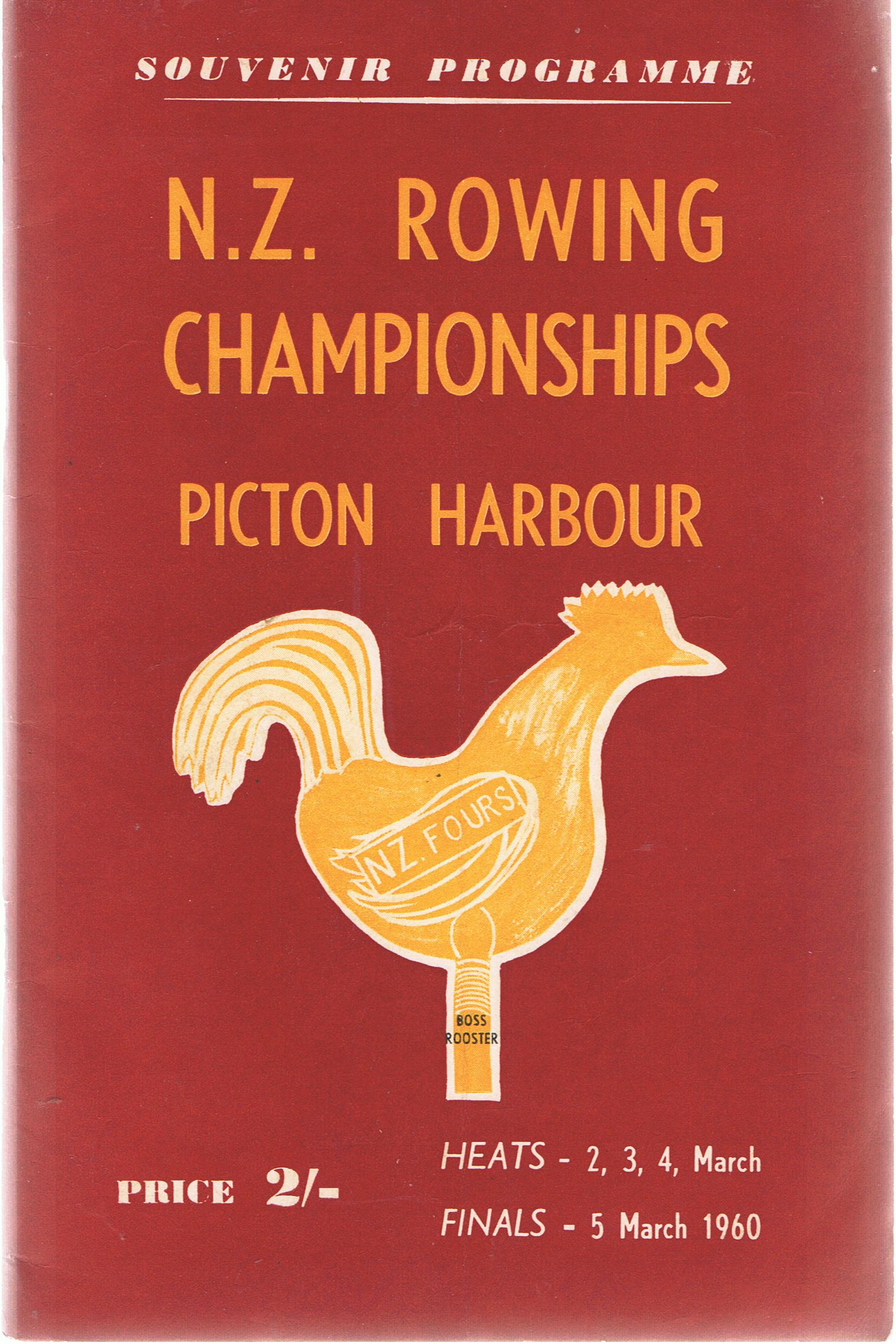 Image for N.Z. [New Zealand] Rowing Championships. Picton Harbour 1960. Souvenir Progarmme.