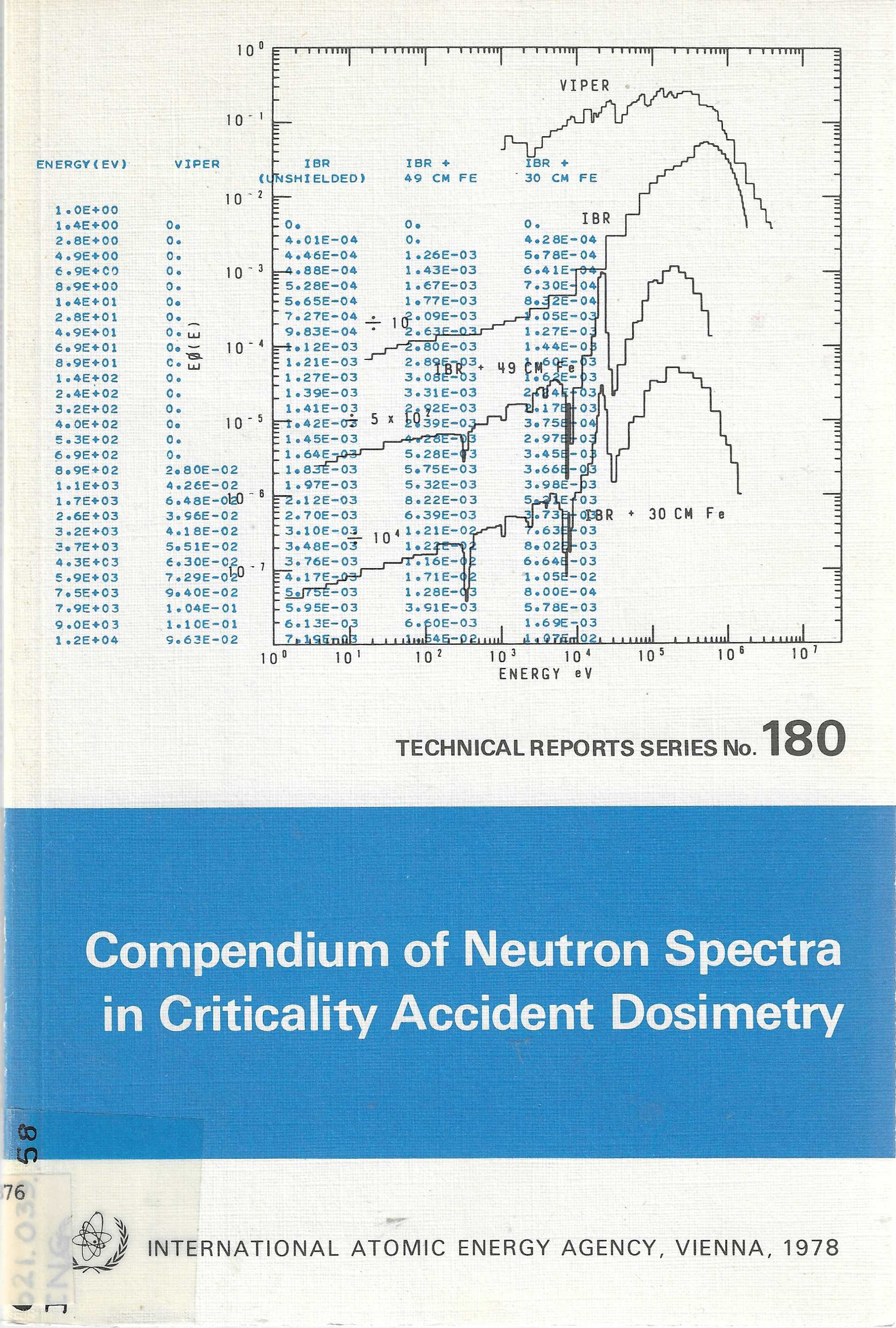Image for Compendium of Neutron Spectra in Criticality Accident Dosimetry. (TECHNICAL REPORTS SERIES No. 180 INTERNATIONAL ATOMIC ENERGY AGENCY)