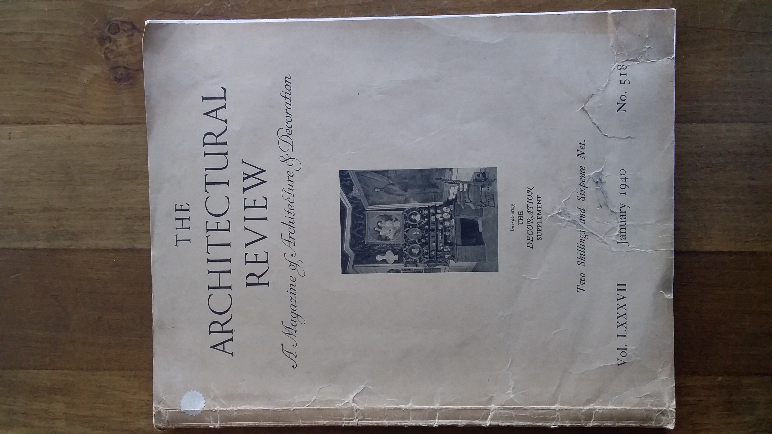 Image for THE ARCHITECTURAL REVIEW. A Magazine of Architecture and Decoration. Incorporating The Decoration Supplement. Vol. 87, no. 518 (January 1940)